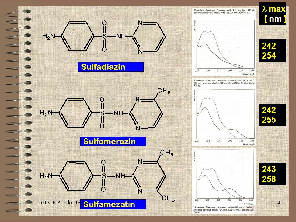  max [ nm ] 242 254 Sulfadiazin 242 255 Sulfamerazin 243 258